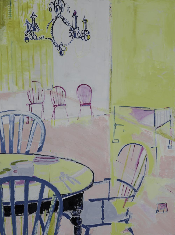 overflow    oil, pastel + pencil on canvas  |  48 x 36