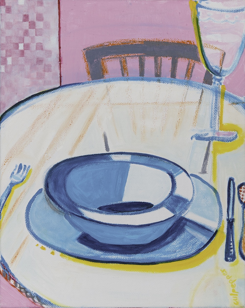 table manners    oil + pastel  |  10 x 8