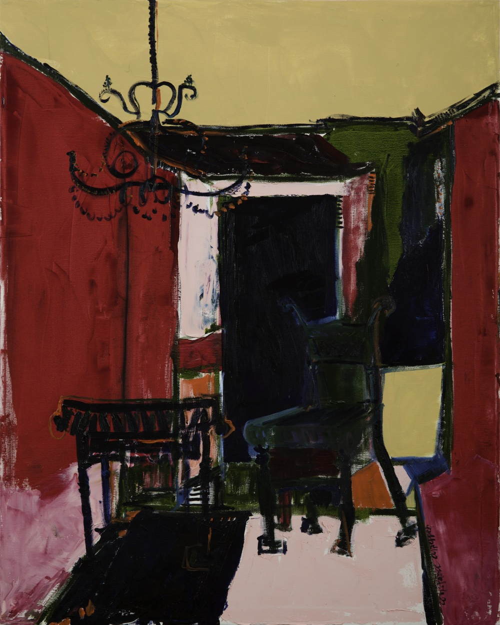 the sitting room    oil on canvas  |  30 x 24