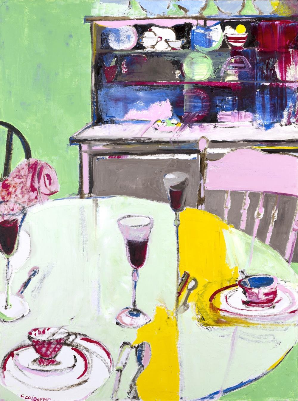 blue soup    oil on canvas  |  24 x 18