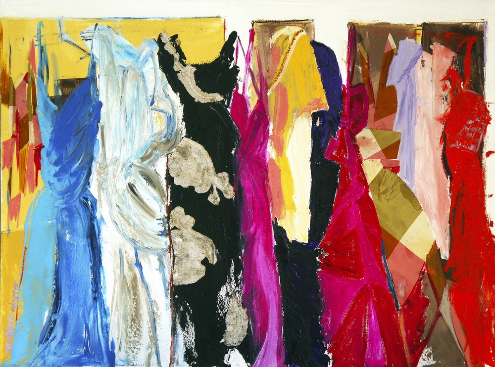 closet space    oil + silk on canvas  |  18 x 24