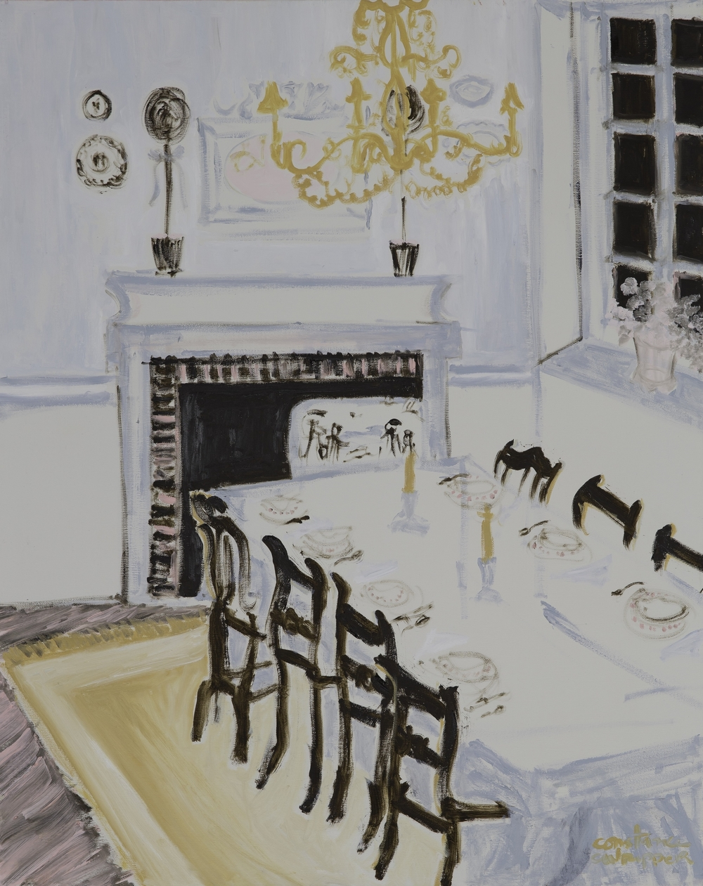 dinner party    oil on canvas | 30 x 24