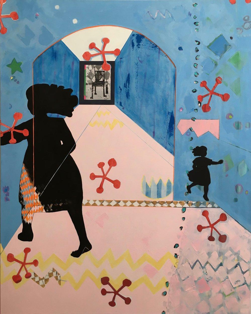 jacks    oil + pencil on canvas  |  60 x 48
