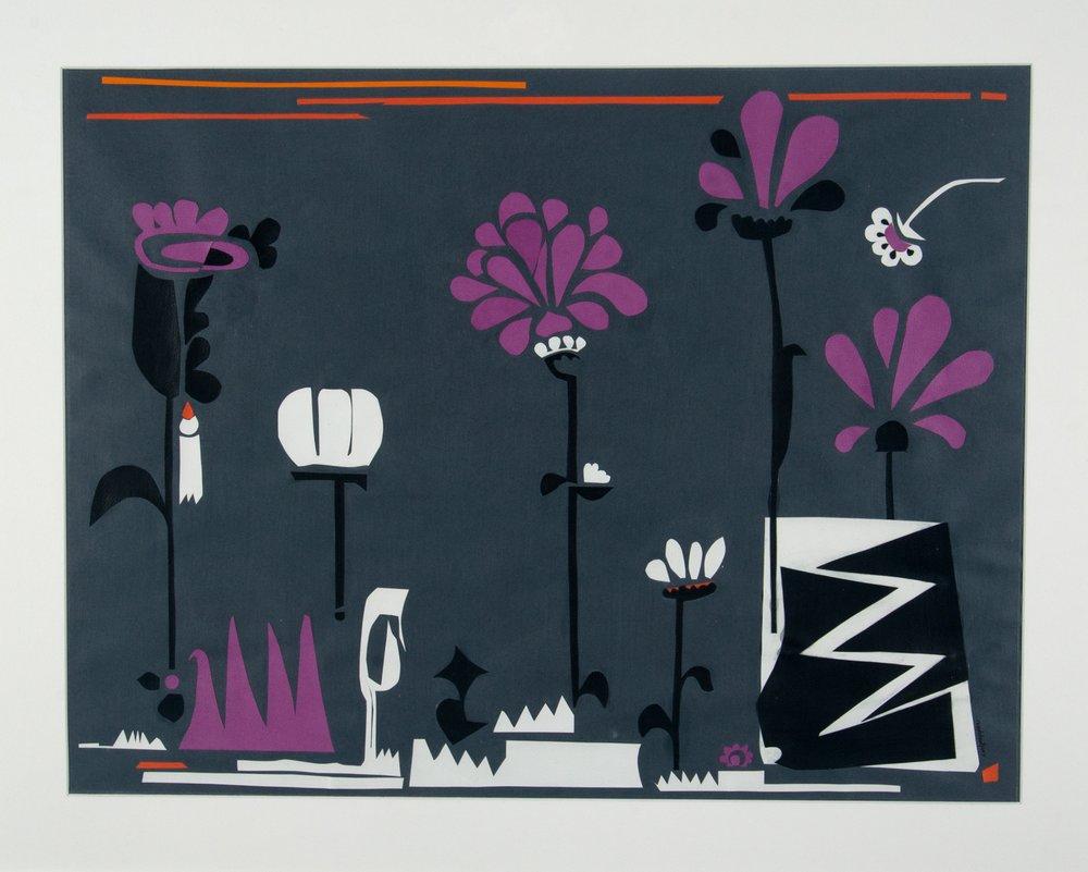 winter garden    paper collage  |  19 x 25