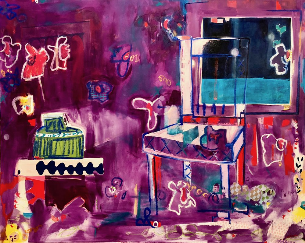 the maniac    oil on canvas  |  48 x 60