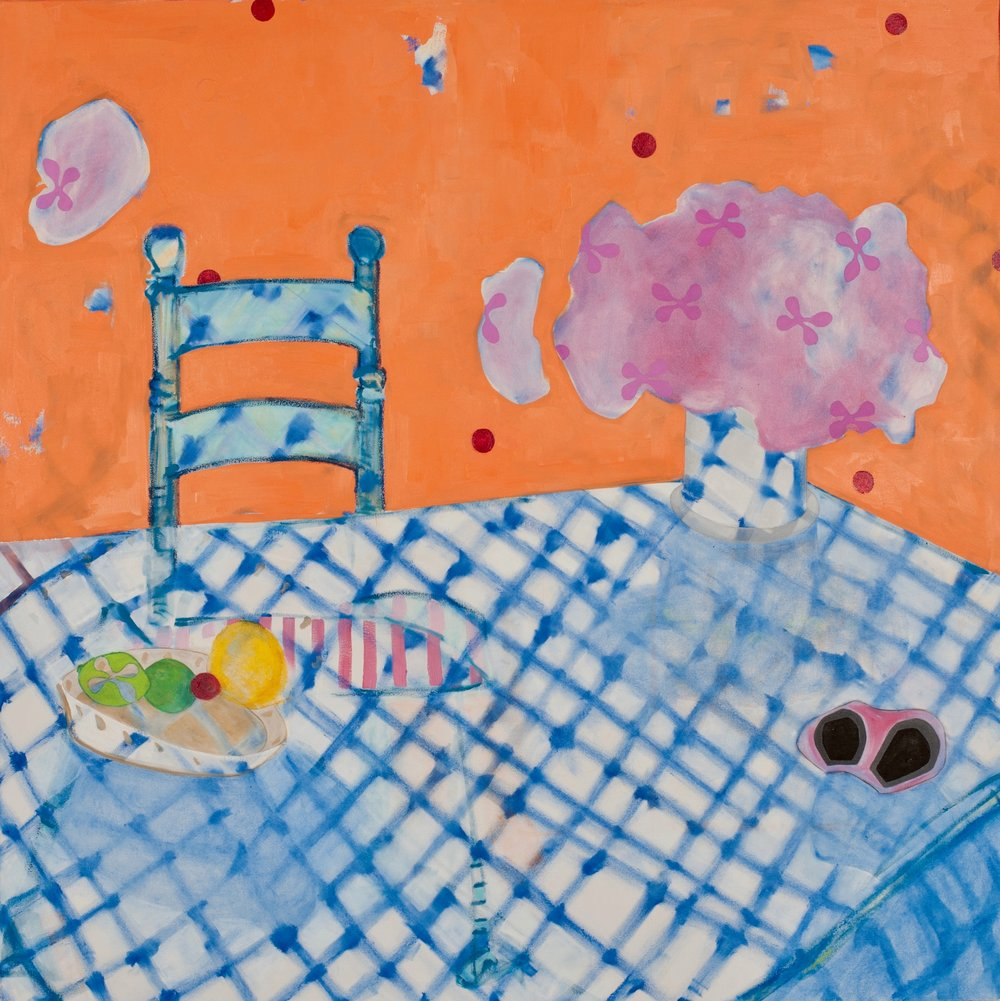 opera glasses    oil, pastel + pencil on canvas  |  48 x 48