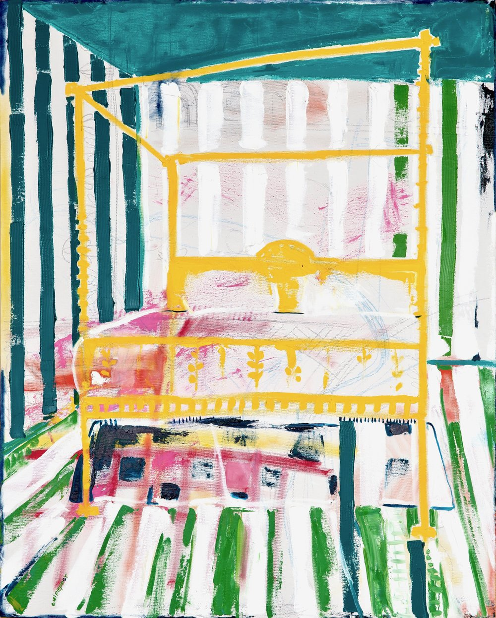 flipside    oil + pencil on canvas  |  30 x 24