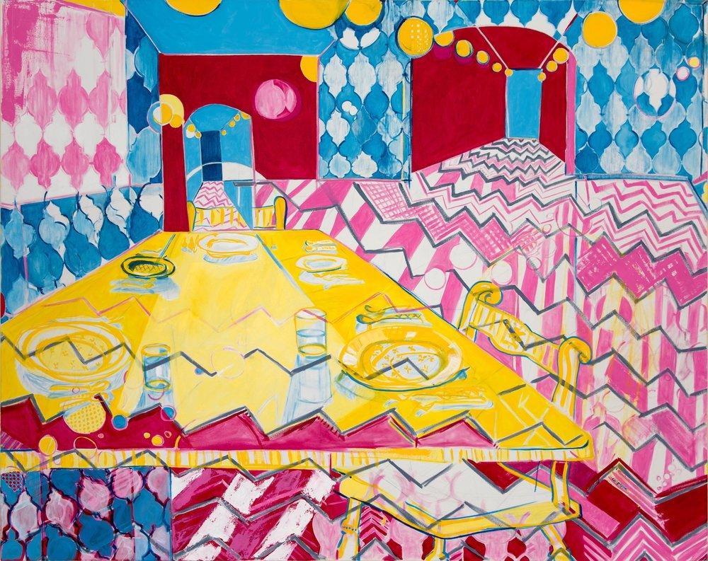 ballroom    oil on canvas  |  48 x 60