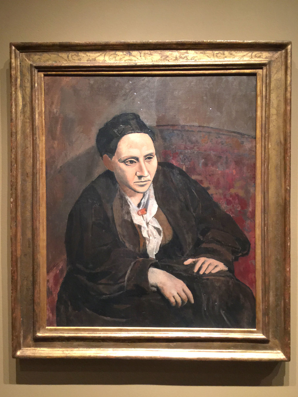 Portrait of Gertrude Stein, Picasso, The Met