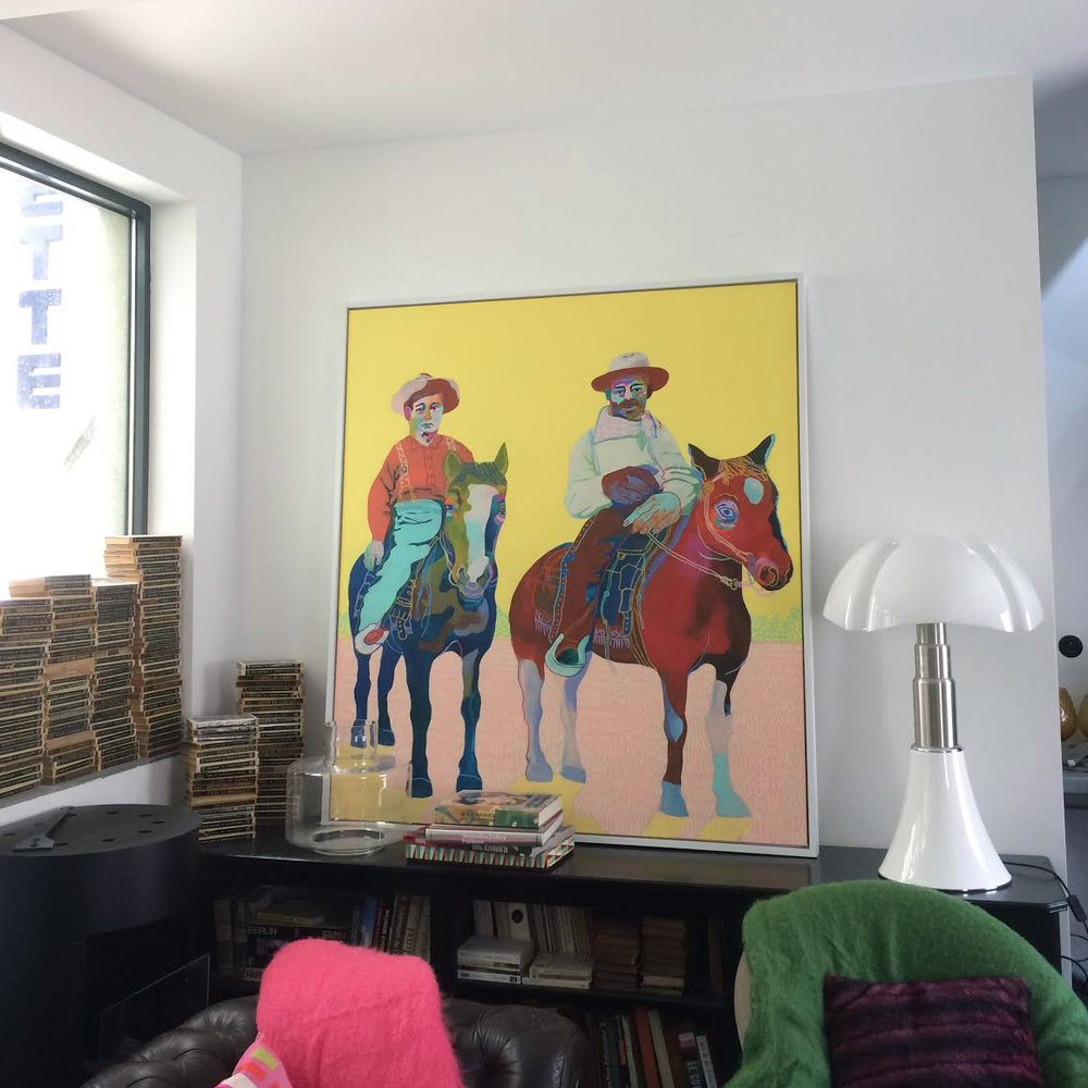 The painting in its Paris home