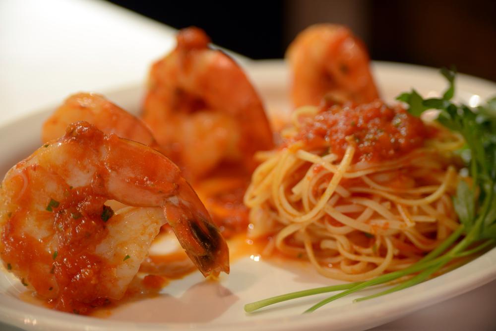 Seafood Dish, U10 Shrimps Pasta Arrabiata