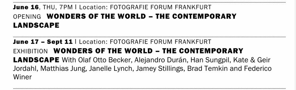 Fotografie Forum Frankfurt 2016 calendar