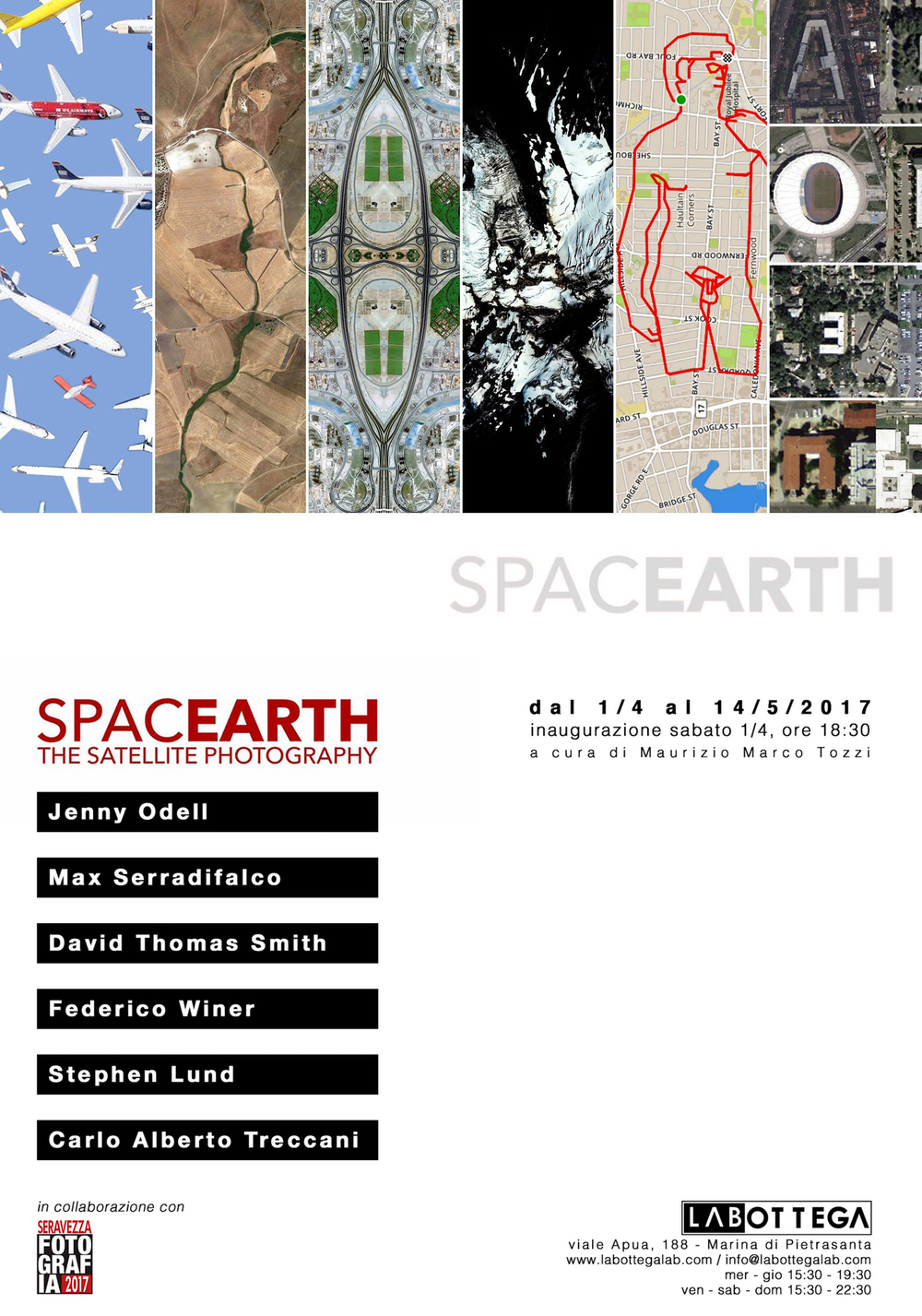 SpacEarth Exhibition. La Bottega Gallery. Marina di Pietrasanta, Toscana, Italy. Opening April 1st - 6:30pm.