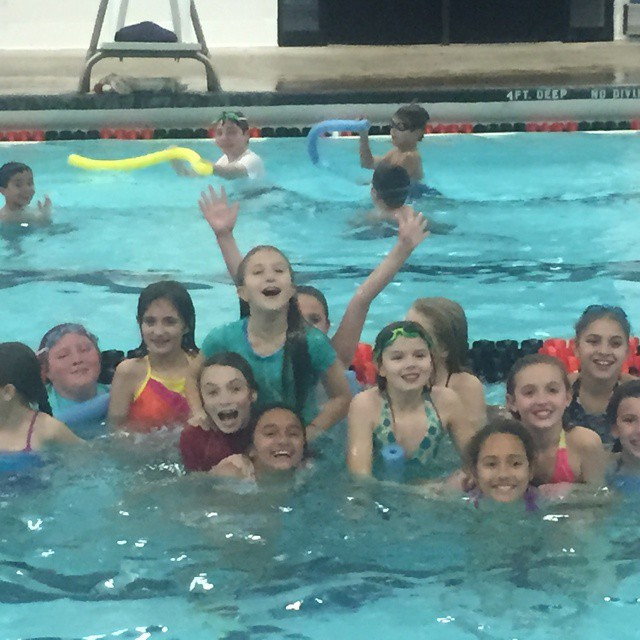 CSA players having a little fun in the pool!