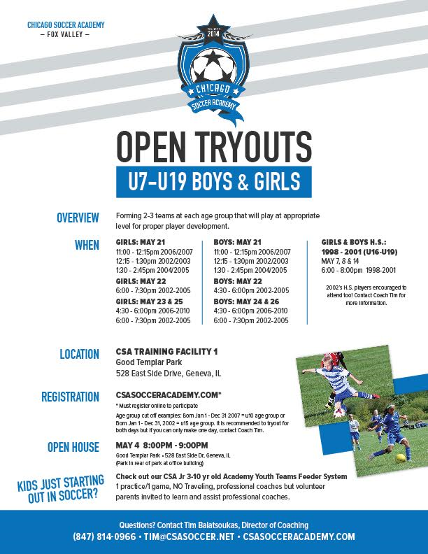 CSA Fox Valley Tryout 2016 Promotional.png