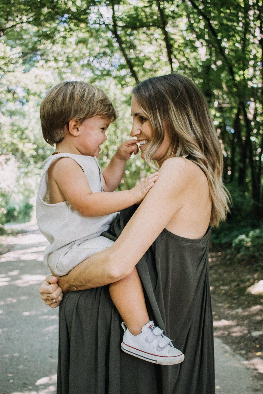 mother son maternity photos