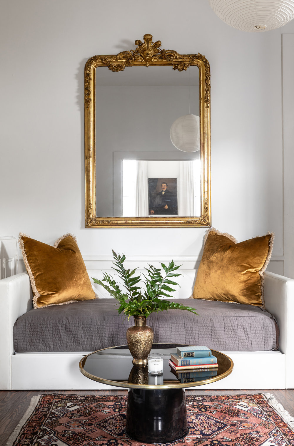 "photo by Jacqueline Marque, featuring our 30"" x 30"" Yellow Gold Velvet Pillows"