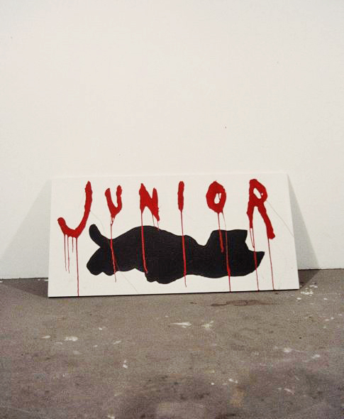 Junior  1999  Acrylic on wood  36 x 24 inches