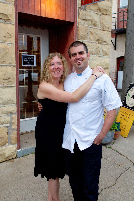 Luke and Ruthie Zahm, own Driftless Cafe in Viroqua.  Photo by Drew Shonka.