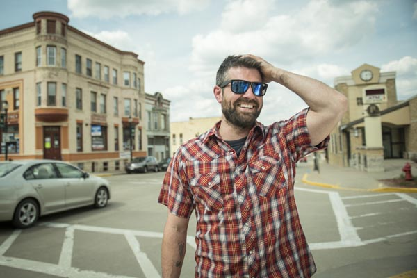 Chef Luke Zahm (Driftless Café).  Photo by Megan Monday