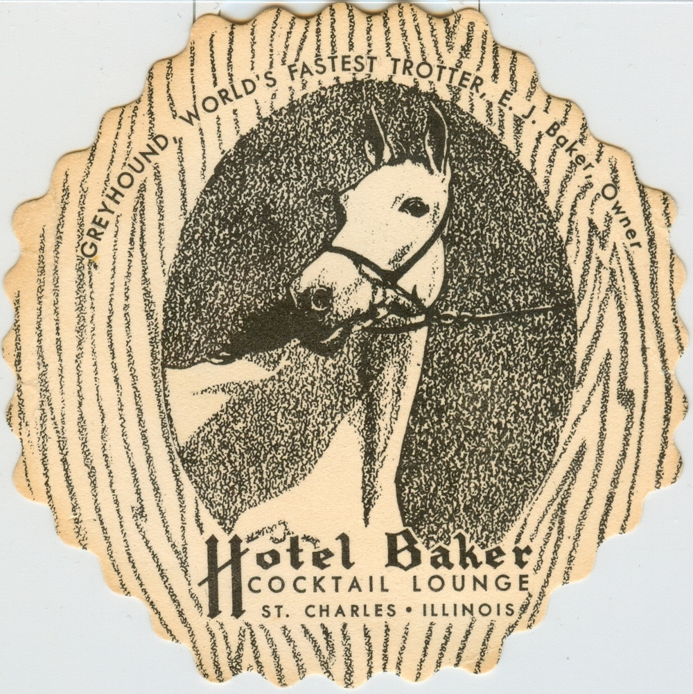 Hotel Baker Cocktail Lounge Coaster