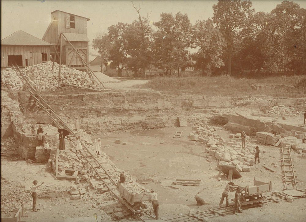 This photo is most likely McCauley's quarry. It is an image of a quarry in St. Charles from the late 1800s and it is unlikely there was more than one quary inSt. Charles at that time.