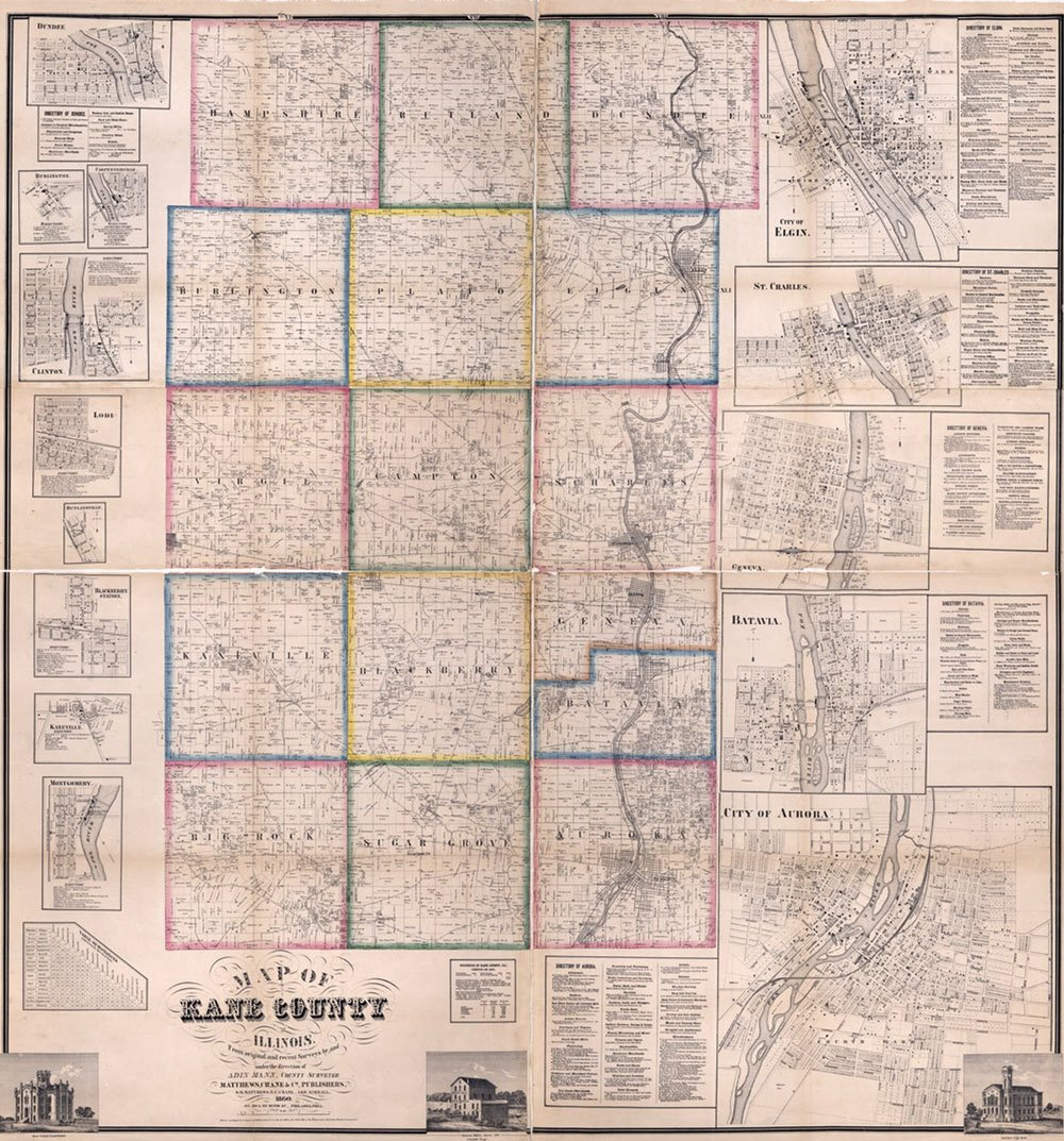 Kane County as it was in 1860