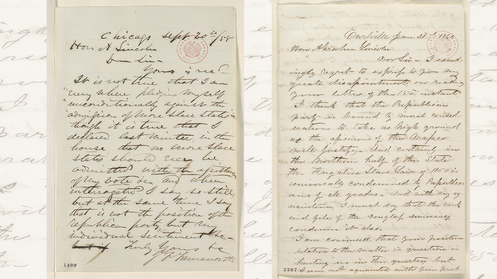 Correspondence between Representative Farnsworth and President Lincoln were key to uncovering each man's feelings about the issues surrounding the morality of slavery.