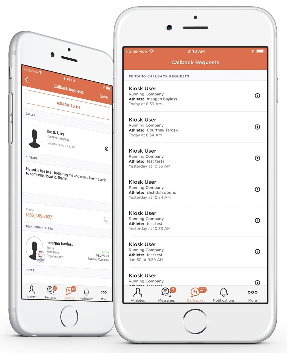 Healthy Roster app on iPhone