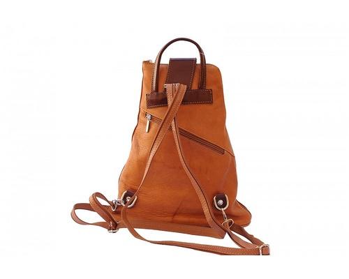 Mia Convertible Backpack Purse - Tan/Brown — Mandula Design