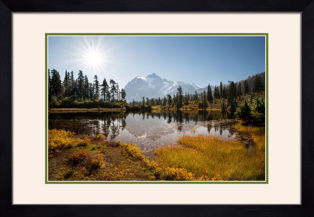 Framed and double matted prints will use frame type and matting colors shown in the above rendering.
