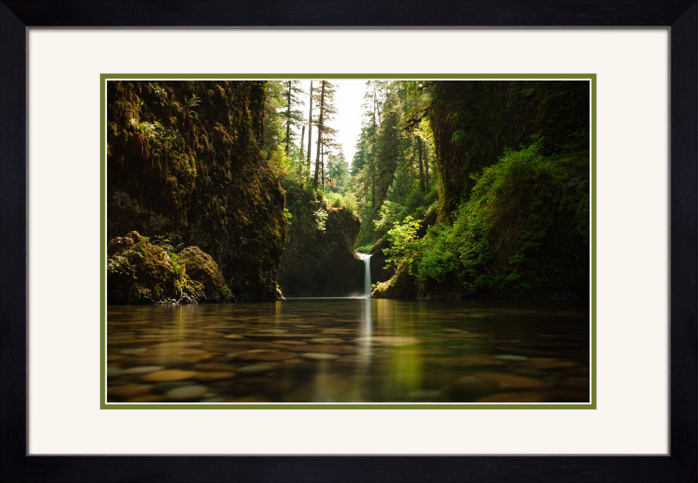 Framed and double matted prints will use the frame type and matting colors shown in the rendering above.