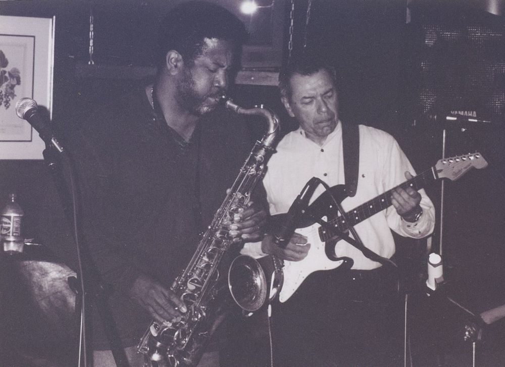Guitarist Don Luna with sax player Donald Roper