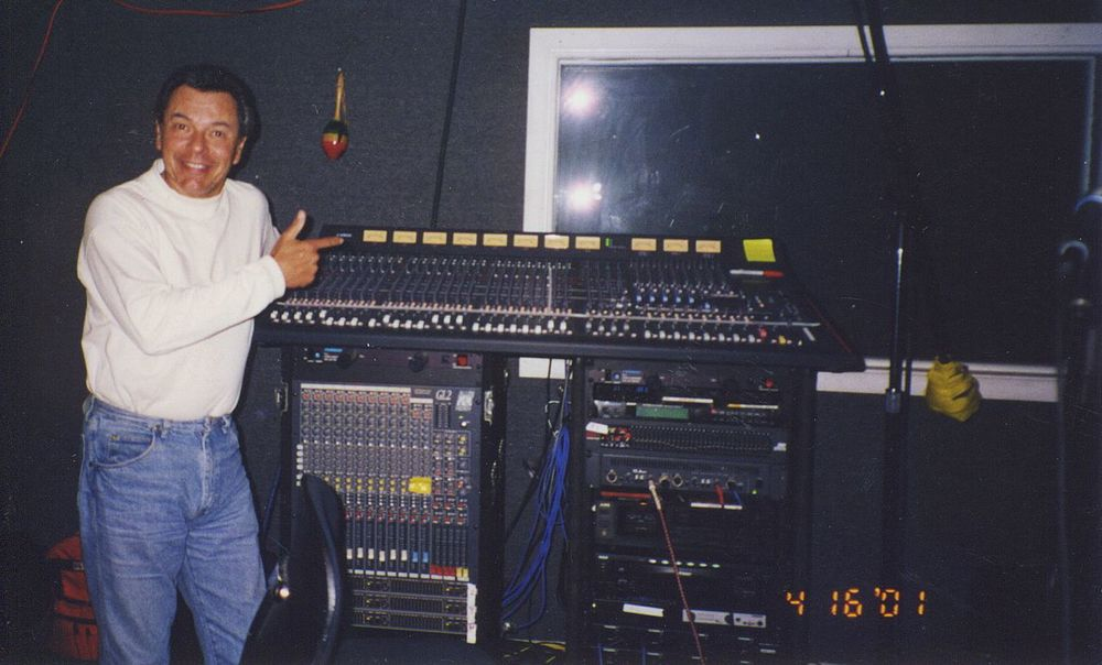 At Steve McGrath's recording studio, Los Angeles, 2001