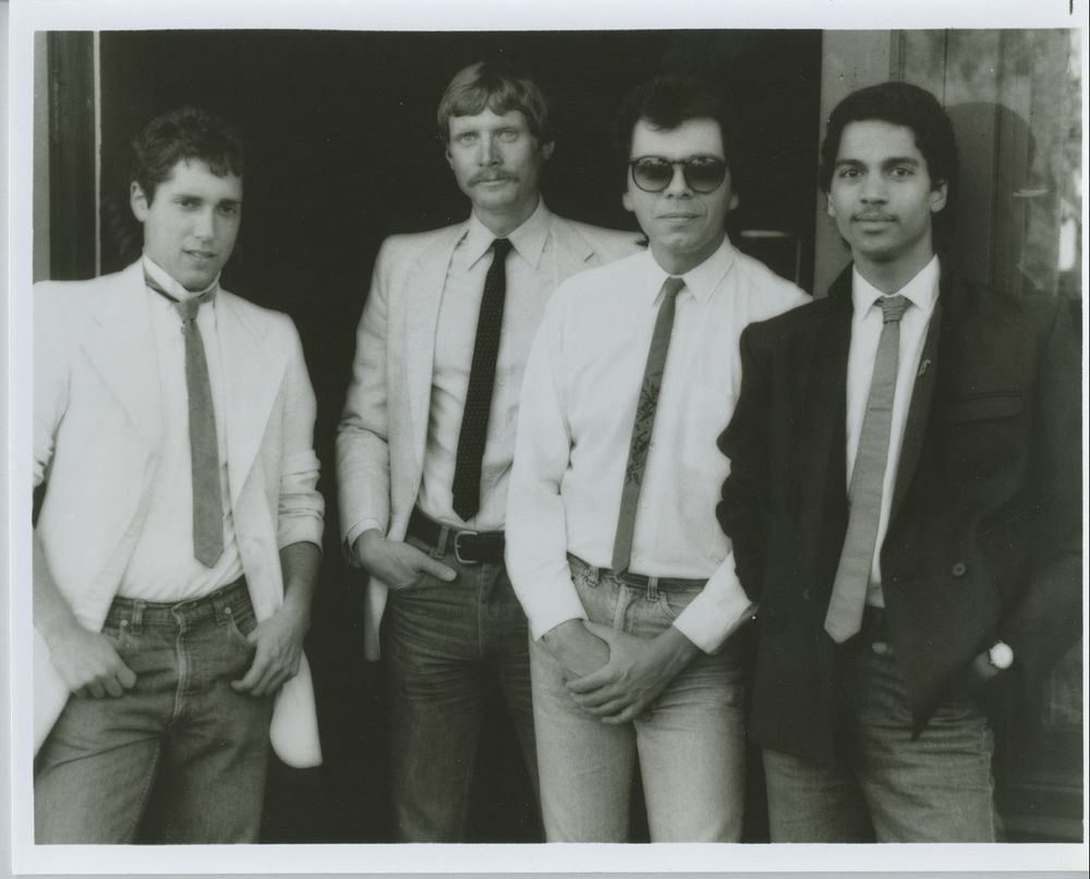 With my former band, The Corporate Ties, in Los Angeles