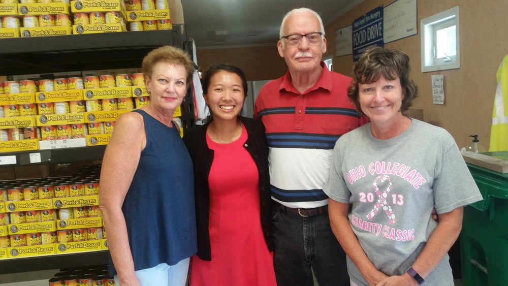 Lily Rau, Quantam Solutions, with Emergency Community Food Pantry of Franklin County Team