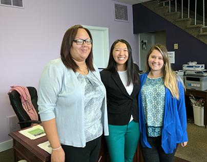 Jayd Gogarn, Women's Center of Greater Lansing Volunteer; Lily Rau, Quantam Solutions; and Mariah Bashore, Women's Center of Greater Lansing Intern