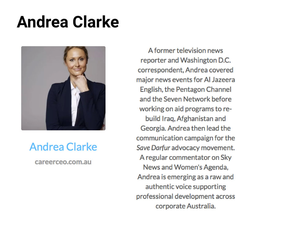 Andrea Clarke, Founder  CEO of Career