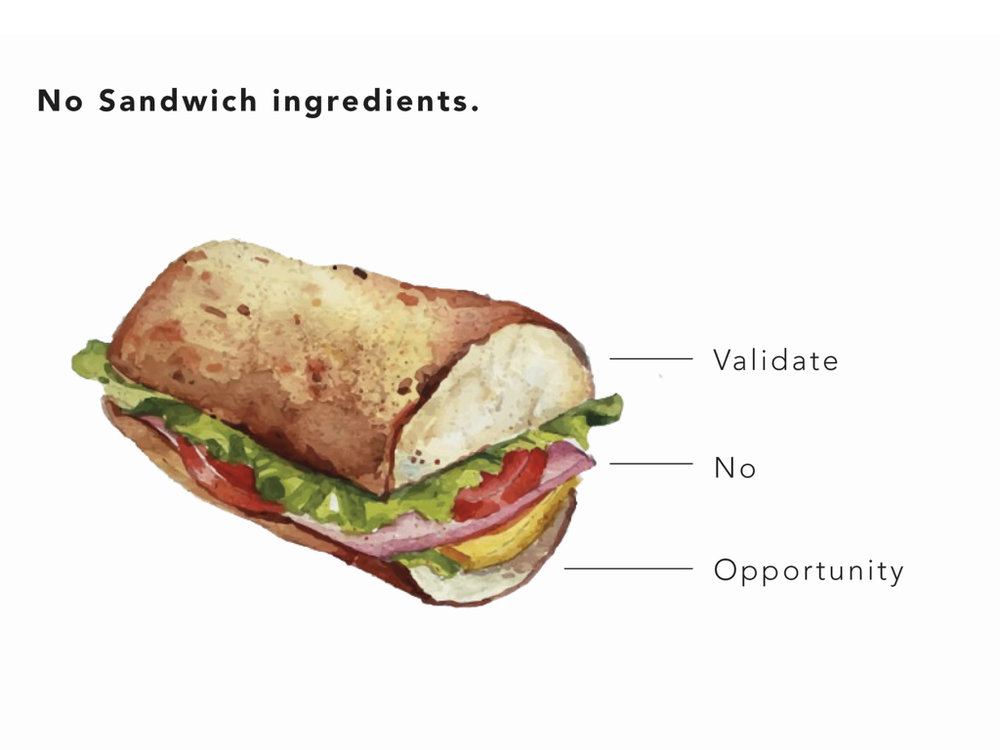 Learn how to do a  No Sandwich here .