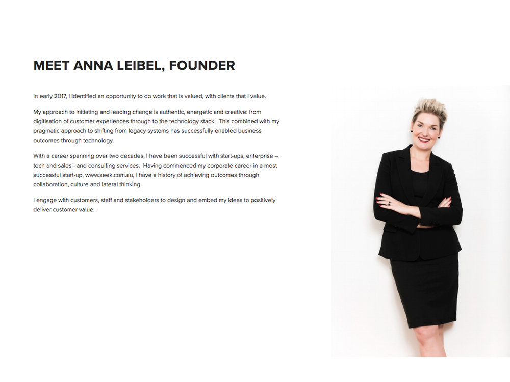 Anna Leibel  Founder 110% Consulting