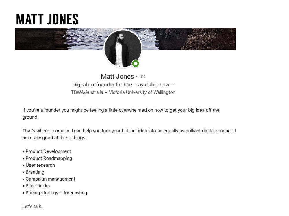 Matt Jones  LinkedIn