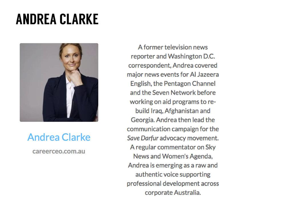 Andrea Clarke CEO Career