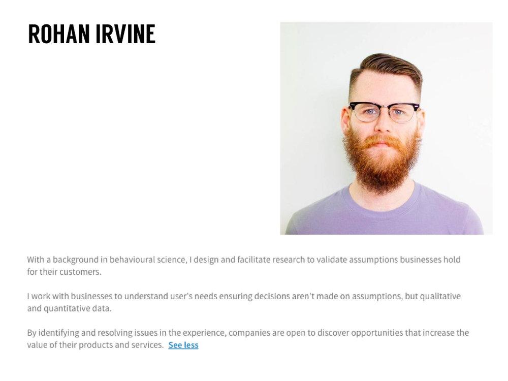 Rohan Irvine  LinkedIn