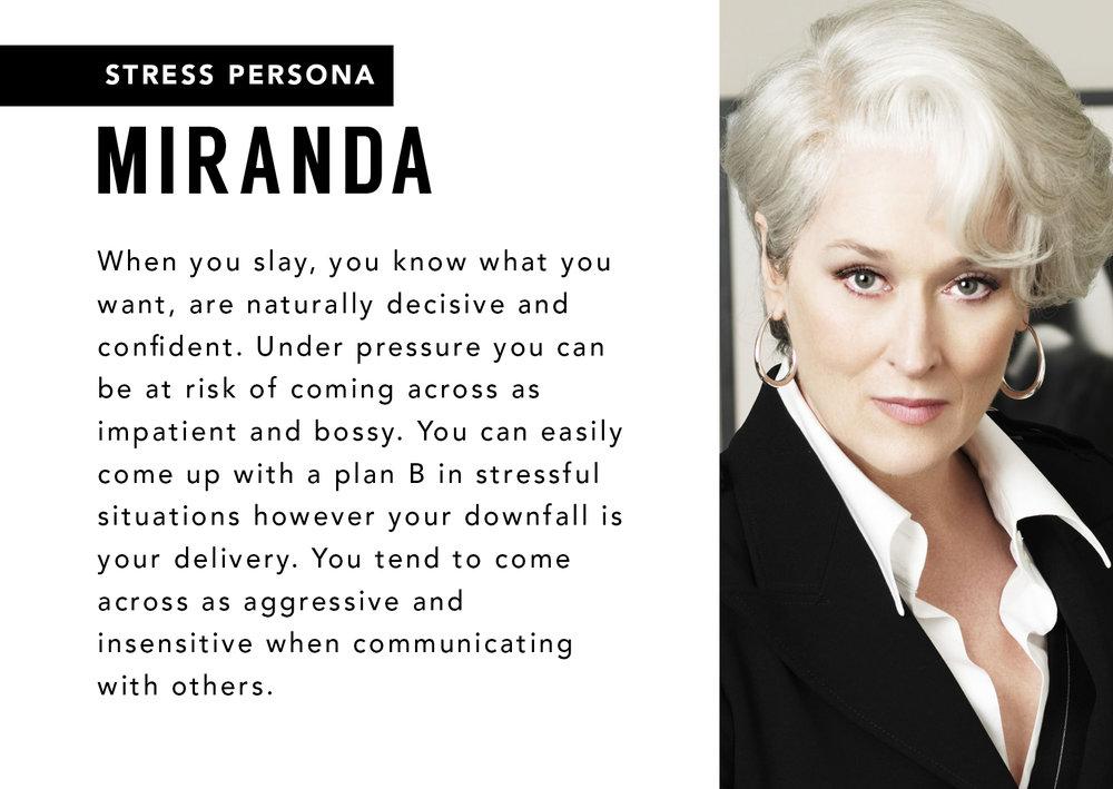 Miranda Stress Persona