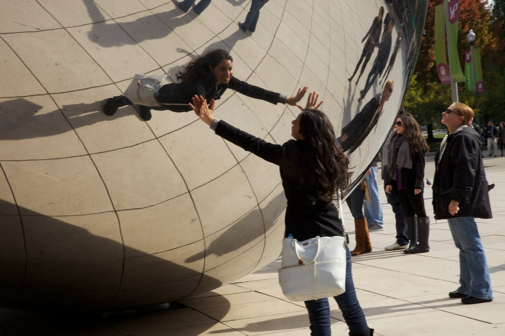 Figs 16 and 17: The Bean in Millennium Park, Chicago