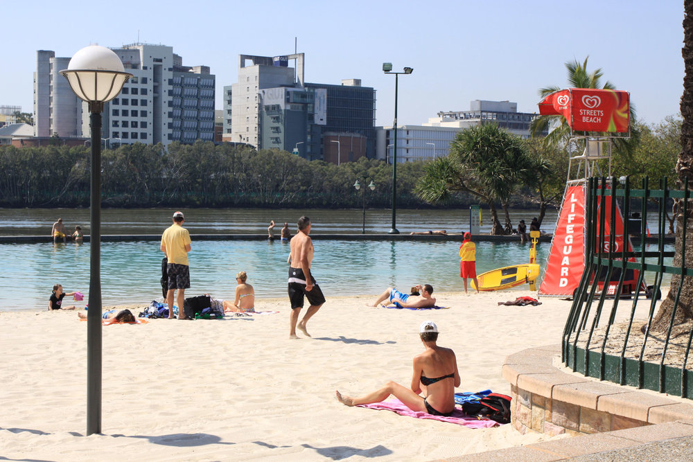 Fig 21: A section of Southbank foreshore, Brisbane that is a node of community activity
