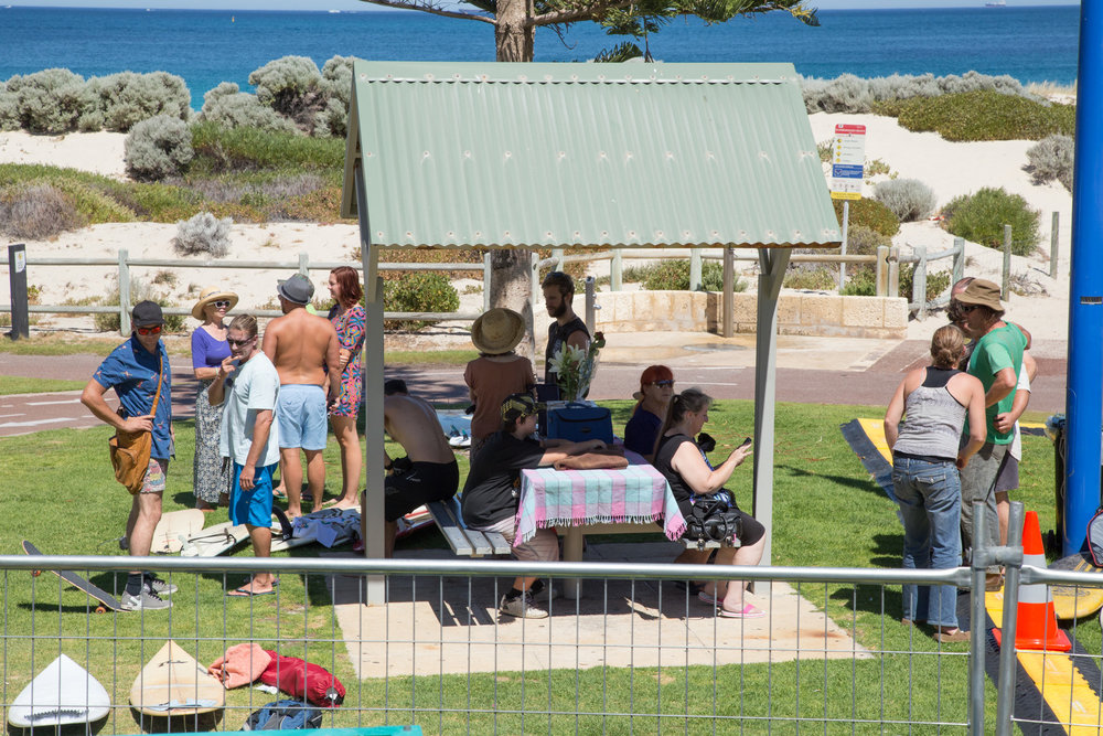 Fig 25: Gathering of family/friends at Scarborough beach