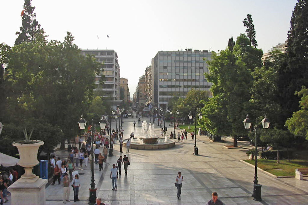Fig 3: Boulevard in the middle of Athens