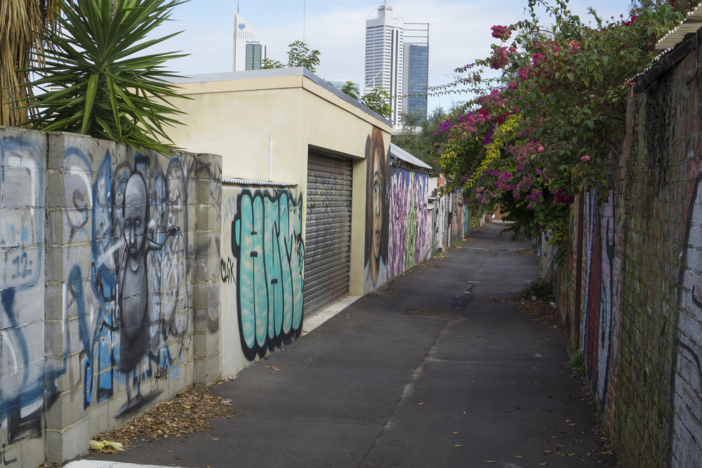 Fig: 15: Back lane in North Perth
