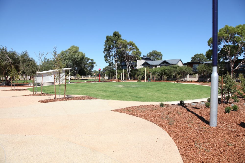 Fig 27: Underused park in Dunsborough WA. Well designed but not suited to the demographic of the suburb